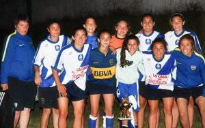 Futbol Femenino recibio al Club Boca Juniors