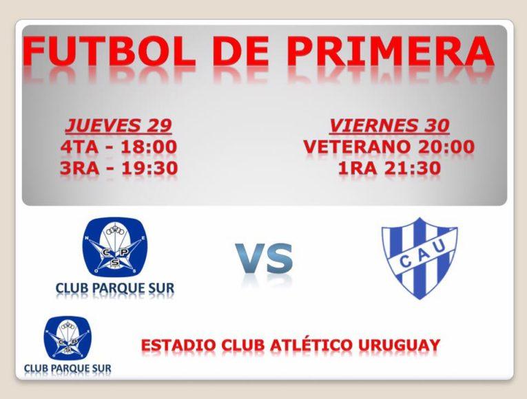 Fútbol local: Parque juega esta noche en el Plazaola ante Atlético Uruguay