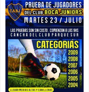 Prueba de Boca Juniors en el Puerto Viejo